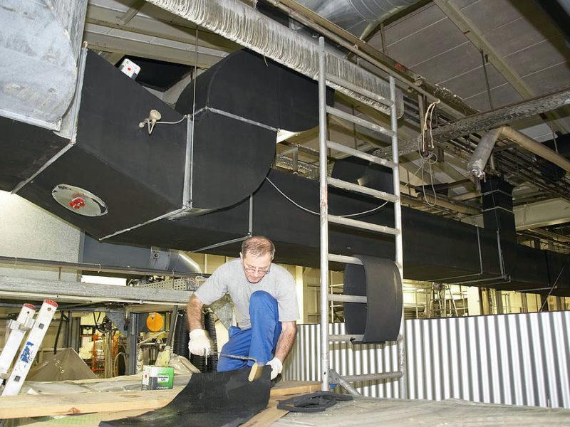 утепление вентиляции воздуховода